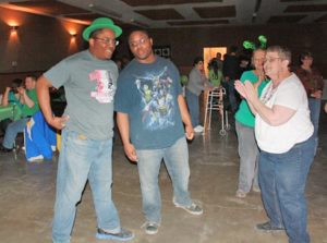 Having fun at the 2015 St. Patrick's Day dance