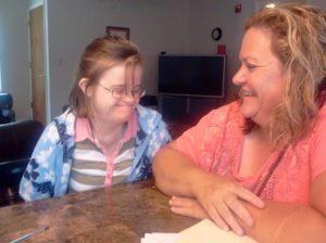 Megan with her Service Coordinator Carletta